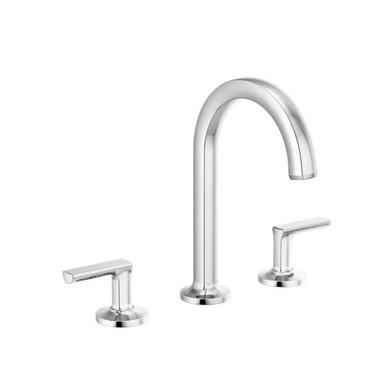 Brizo Kintsu 1.5 GPM Widespread Lavatory Faucet with Arc Spout - Less Pop-Up Drain and Handles