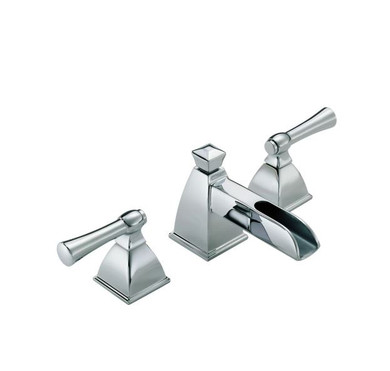 Brizo Vesi 1.2 GPM Widespread Waterfall Bathroom Faucet with Pop-Up Drain Assembly