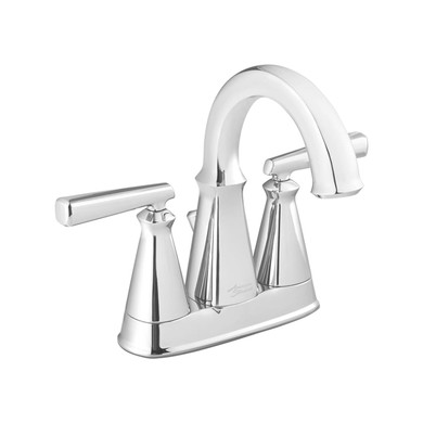 American Standard Edgemere 1.2 GPM Double Handle Centerset Bathroom Faucet - Includes Pop-Up Drain Assembly