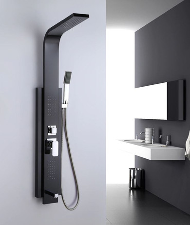 Royal Rio All In One Shower Panel Stainless Steel in Matte Black