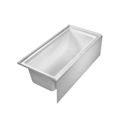 """Duravit Architect 66"""" Alcove Acrylic Soaking Tub with Left Drain and Overflow"""