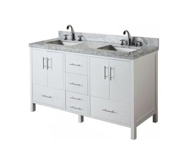 "Royal Omni 60"" Double Sink Bathroom Vanity"