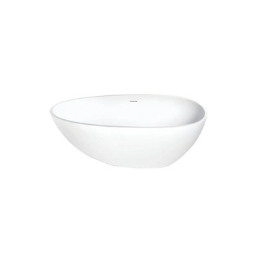 """Kingston Brass Aqua Eden 59"""" Free Standing Engineered Stone Soaking Tub with Center Drain, Drain Assembly, and Overflow"""
