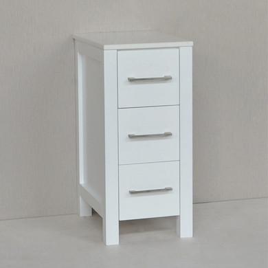 "Kennedy 13"" White Side Linen Cabinet"