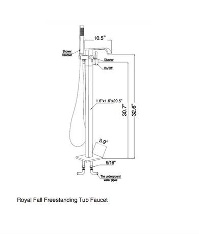 Royal Fall Freestanding Tub Faucet