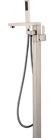 Royal Lux Square Freestanding Tub Faucet Nickel