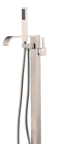 Royal Fall Freestanding Tub Faucet Brushed Nickel