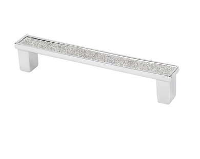 Topex    Shiny Silver Crystal Cabinet Pull