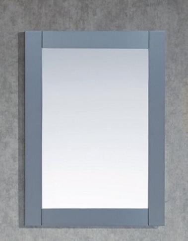 "Key Largo 30"" Wooden Framed Ice Grey Mirror"