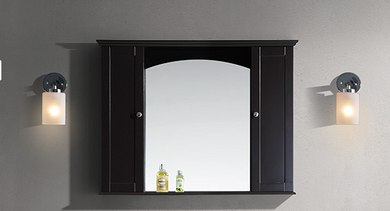 "Dual 48"" Cabinet Mirror Espresso"