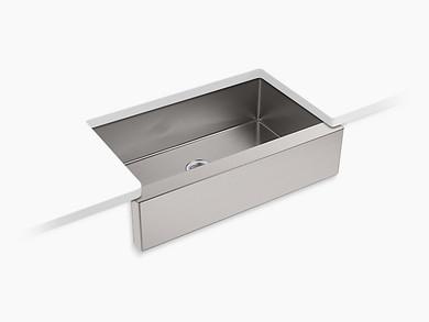 "Kohler | Strive® Self-Trimming® 35-1/2"" x 21-1/4"" x 9-5/16"" under-mount large single-bowl kitchen sink with tall apron"