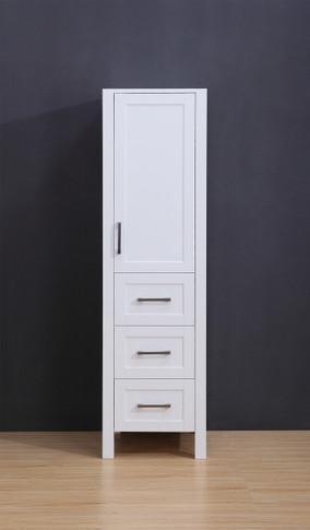 """18.5"""" White  York  Linen Cabinet"""
