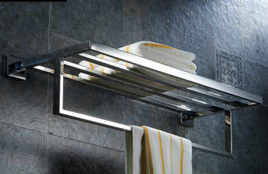St. Catherine  Towel Rack in Brushed Stainless Steel