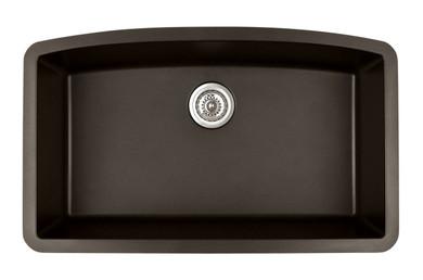"Karran Extra Large Single Bowl Undermount Kitchen Sink Brown Finish 32-1/2"" x 19-1/2"""