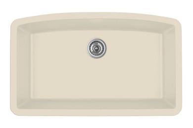 "Karran Extra Large Single Bowl Undermount Kitchen Sink Bisque Finish 32-1/2"" x 19-1/2"""