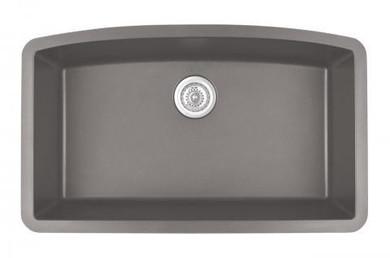 "Karran Extra Large Single Bowl Undermount Kitchen Sink Concrete Finish 32-1/2"" x 19-1/2"""