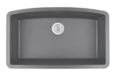 "Karran Extra Large Single Bowl Undermount Kitchen Sink Grey Finish 32-1/2"" x 19-1/2"""