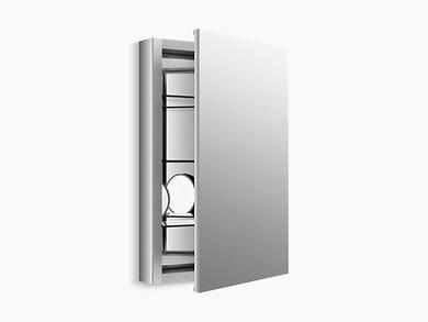 "Kohler Verdera® aluminum medicine cabinet with adjustable flip-out flat mirror, 20"" W x 30"" H"
