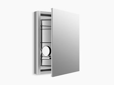 "Kohler Verdera® aluminum medicine cabinet with adjustable flip-out flat mirror, 24"" W x 30"" H"