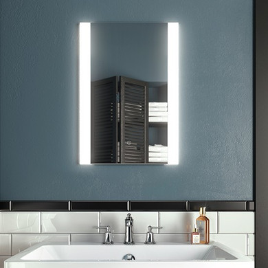 Accent 24'' x 32'' Illuminated LED mirrors with frosted acrylic strips