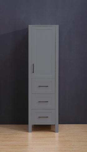 "18.5"" Gray  York  Linen Cabinet"