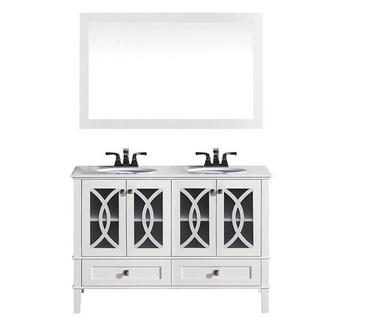 "Royal Florida 72"" Bathroom Vanity White with Stone Top"