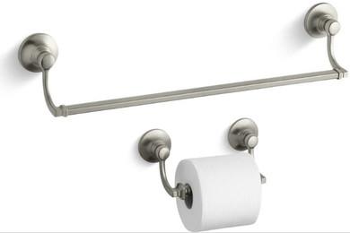 "Kohler Bancroft 18"" Towel Bar and Tissue Holder"