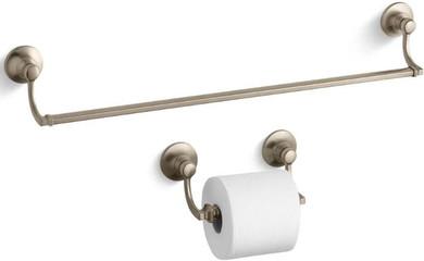 "Kohler Bancroft 24"" Towel Bar and Tissue Holder"