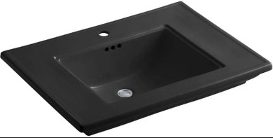 """Kohler Memoirs Stately 30"""" Fireclay Pedestal Bathroom Sink with 1 Hole Drilled and Overflow"""