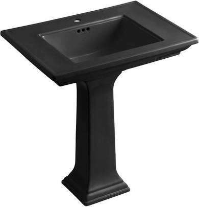 Kohler Memoirs pedestal lavatory with single-hole faucet drilling