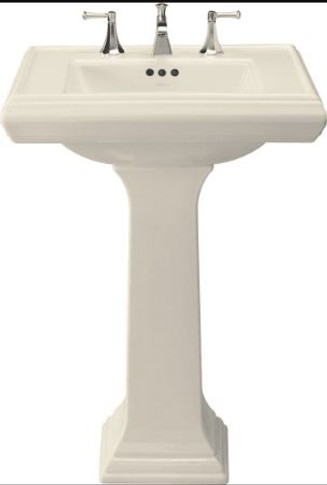"""Kohler 27"""" Single Hole Fireclay Bathroom Sink with Overflow and 1 Pre Drilled Faucet Hole from the Memoirs Collection"""