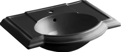 """Kohler Devonshire 17"""" Pedestal Bathroom Sink with 1 Hole Drilled and Overflow - Less Pedestal"""