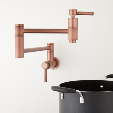 Signature Hardware Contemporary Double Handle Wall Mounted Pot Filler