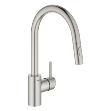 Grohe Concetto 1.75 GPM Single Hole Pull Down Kitchen Faucet