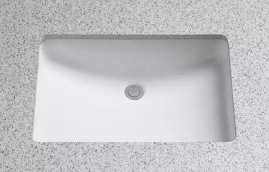 """TOTO 19"""" Undermount Bathroom Sink with Overflow and CeFiONtect Ceramic Glaze"""