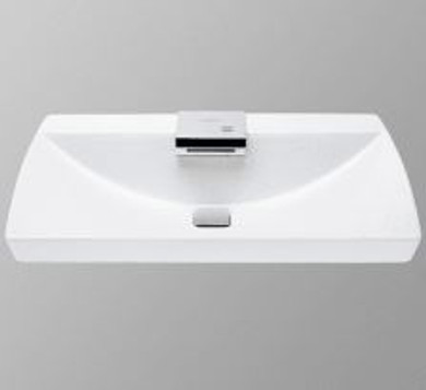 """TOTO NeoRest 29-1/2"""" Fireclay Drop In Bathroom Sink with 1.7 GPM Single Faucet Hole Drilled and CeFiONtect Ceramic Glaze - Integrated Faucet Included"""