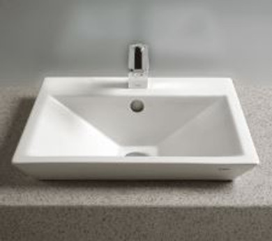 """TOTO Kiwami Renesse 18-1/8"""" Fireclay Vessel Sink with Overflow and CeFiONtect Ceramic Glaze"""