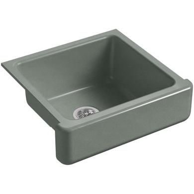 """Kohler Whitehaven 23-1/2"""" Undermount Single Basin Cast Iron Kitchen Sink"""