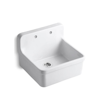 """Kohler Gilford 24"""" Single Basin Wall-Mount/Top-Mount Kitchen Sink with Apron-Front"""