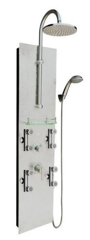 Pulse Vaquero 2.5 GPM Shower Panel with Rain Shower Head, Multi-Function Hand Shower and 8 Body Sprays