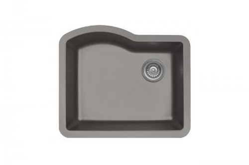 Karren Single Bowl Undermount Kitchen Sink Concrete Finish 24 X 21 Qu 671 American Bath