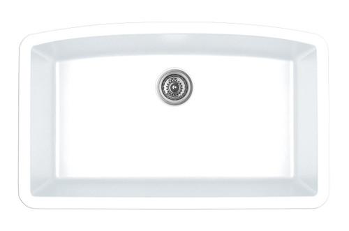 Karran Extra Large Single Bowl Undermount Kitchen Sink White Finish 32 1 2 X 19 1 2 American Bath