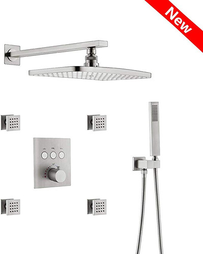 Royal Phoenix  Brushed Nickel Shower with jets
