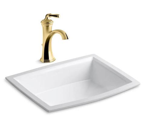Kohler Archer 17 5 8 Undermount Bathroom Sink With Overflow And Devonshire Single Hole Bathroom Faucet