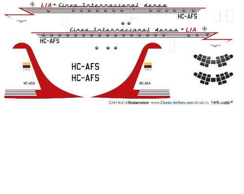 1/144 Scale Decal LIA Ecuadaor Stratocruiser