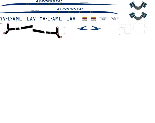 1/144 Scale Decal LAV - Aeropostal C-46