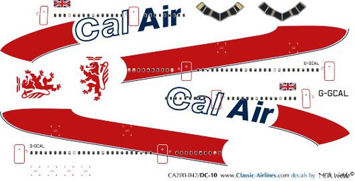1/200 Scale Decal Cal Air DC-10