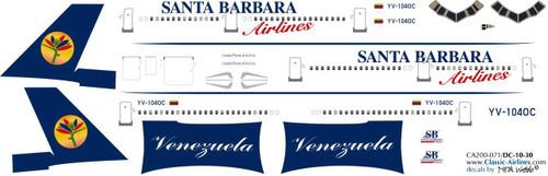 1/200 Scale Decal Santa Barbara DC10-30