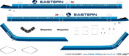 1/200 Scale Decal Eastern L-1011 Delivery