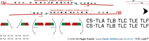 1/200 Scale Decal TAP Super Constellation